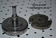 Тарелка сцепления (квадрат) + сцепление для мотокос, бензокос SADKO GTR-320, Vorskla, SunGarden GB 25-GB 25A , фото 1