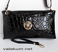 Женская черная сумочка-клатч. 0650.