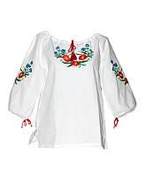 Блуза школьная для девочки. Стиль вышивки и цвет любой