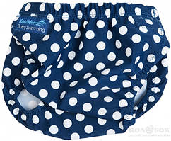Плавательные трусы для малышей Konfidence AquaNappy Трусики Konfidence AquaNappy Navy Polka Dot