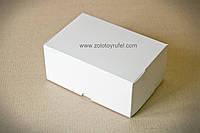 Картонная коробка для торта 18Х12Х8 см (белая)