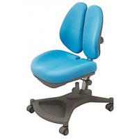 Кресло серебристый метал / обивка голубая однотонная Mealux Neapol Y-132 KBL