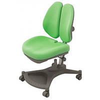 Кресло серебристый метал / обивка зеленая однотонная Mealux Neapol Y-132 KZL