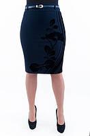 Женская стильная юбка с бархатным узором
