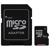КАРТА ПАМЯТИ MICRO SD 64 GB CLASS 10 + ADAPTER