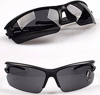 Cолнцезащитные очки UV400 HD Night Vision Спорт Тренд 2016! Унисекс, Полуободковые, Черный