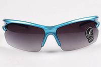Cолнцезащитные очки UV400 HD Night Vision Спорт Тренд 2016! Унисекс, Полуободковые, Синий
