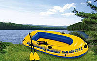 Надувная 2-х местная лодка Challenger 2 Set 68367,насос+весла