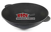 Чугунная сковорода ВОК (WOK) 40см 8л без крышки ЭКОЛИТ (Украина)
