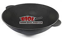 Чугунная сковорода ВОК (WOK) 40см 8л без крышки ЭКОЛИТ (Украина), фото 1