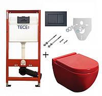 Унитаз NEWARC Modern (3823R) красный+инсталляция TECE
