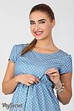Джинсовое платье для беременных и кормящих Celena DR-27.034, сердечки на светлом джинсе, фото 3