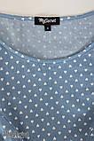 Джинсовое платье для беременных и кормящих Celena DR-27.034, сердечки на светлом джинсе, фото 7