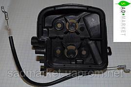 Корпус фільтра з тросом газу бензопили PARTNER, McCULLOCH CS 330, 360, 400, 420 T