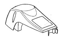 Крышка цилиндра бензопили PARTNER 842, McCULLOCH CS 330, 360, 379,400