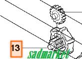 Шестерня регулювання натягу ланцюга бензопили JONSERED CS2234 S, CS 2238 S