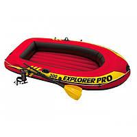 Трёхместная надувная лодка Explorer Pro 300 Set + пластиковые вёсла и насос