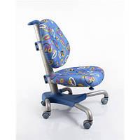 Кресло серебристый металл / обивка синяя с кольцами MEALUX Y-517 SB