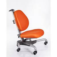 Кресло серебристый металл / обивка оранжевая однотонная MEALUX Y-517 SKY