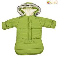Зимний конверт Omali «Снеговичок» (зелёный)