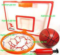 Баскетбол баскетбольное кольцо, щит 41x30см, мяч, насос. Крепится на дверь