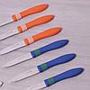 Набір ножів Kamille 12шт з нержавіючої сталі з пластиковими ручками KM-5314, фото 5
