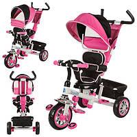 Детский трехколесный велосипед Bambi B32-TM-3 розовый