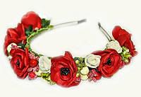 Обруч для волос женский Цветы и ягоды