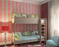 """Детская двухъярусная кровать  """"Альфа"""""""