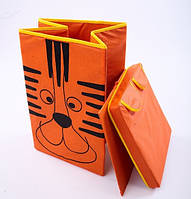 Ящик корзина для игрушек Тигр 35*35*55см УкрОселя