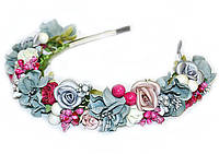 Обруч для волос с цветами и ягодами