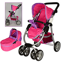 Детская коляска-трансформер для кукол  9662 М