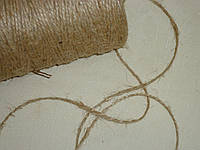 Шнурок-бечевка 2 мм коричневого цвета