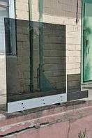 Монтаж образца стеклянного ограждения