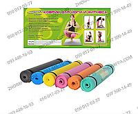 Йогамат MS 0205, PVC, размером 173*60 см, толщина 3 мм, 6 цветов, для занятий йогой или фитнесом, в кульке