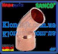 SANCO Колено медное 15/45° 1 муфта