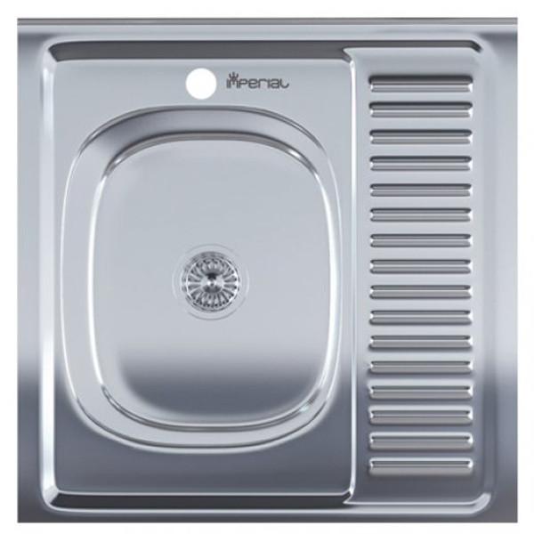 Мийка Накладна 6060-L неіржавіюча сталь, покриття polish , глибина 160 мм, Товщина 0.6 мм (MILLANO Imperial)