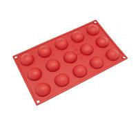 Полусферы форма для заливки десертов силикон из 12 ячеек