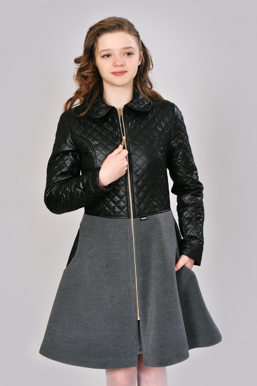 Стильное пальто подростковое для девочек