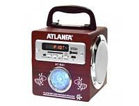 Колонка Atlanfa AT-R61, портативная колонка с радио, переносная, SD/USB.
