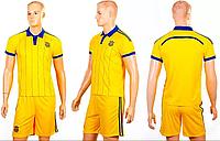 Форма футбол детск. CO-3900-UKR-14Y(XS) УКРАИНА (PL, р-р XS-116см(22), желтый)