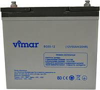 Аккумуляторная батарея гелевая  Vimar BG55-12 (12V55AH), фото 1