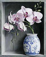 """Набор алмазной вышивки (мозаики) """"Орхидеи в вазе"""". Художник Pieter Wagemans"""