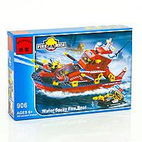 """BRICK 906 (24) """"Пожарная тревога"""", 340 деталей, в коробке"""