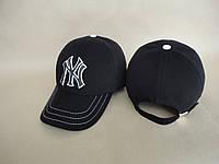 Бейсболка джинсовая черная NY