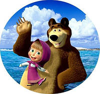 Вафельная картинка для тортов Маша и Медведь 89