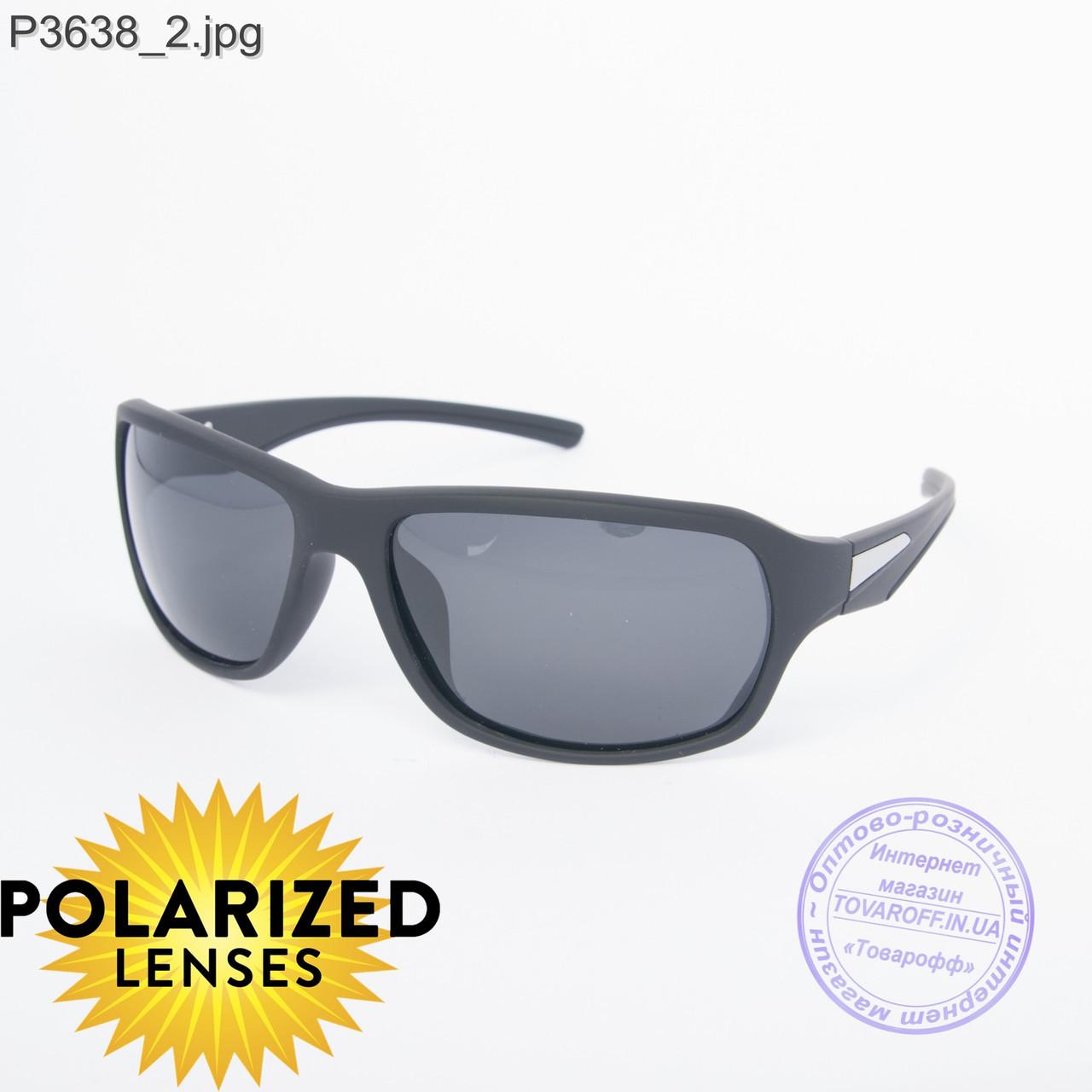Оптом черные мужские поляризационные очки - 3638