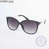 Оптом женские солнцезащитные очки черные - CT2097
