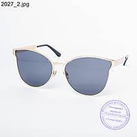 Оптом женские солнцезащитные очки золотистые - 2027