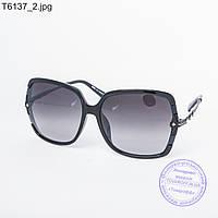 Оптом женские солнцезащитные очки черные - T6137